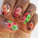 Floral Burst Nail Art