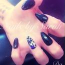 Black with gems