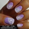 Lacey Lilac Nail Art