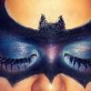 My version of a bat mask ♥ {Halloween makeup} ^▽^