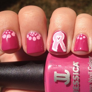 October is Breast Cancer Awareness month! If you want to join in all you have to do is wear pink polish on Mondays in October. Tweet a pic or post it to Instagram with the hashtag #polishuspink You can find out more info on how to get you blogged linked in at http://polishmeplease.wordpress.com
