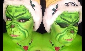 Grinch Makeup: Steelers Edition tutorial