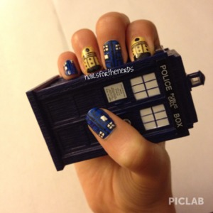 Nails based off of the British tv show Doctor Who