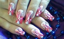 Abstract Red & Pink Nail Art Design Tutorial for Long Nails - ♥ MyDesigns4You ♥