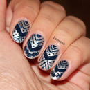 Aztec Tribal Nail Design