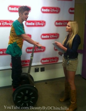 Alli Simpson (makeup by me)  interviewing Justin Bieber at the Radio Disney Event