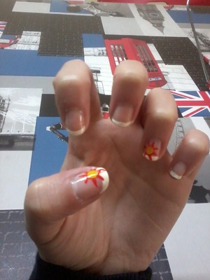 my french nails I made for spring x