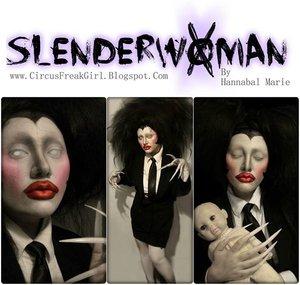 Did my take on a female Slenderman!