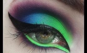 Acid Queen, Neon Eyeshadow Tutorial!