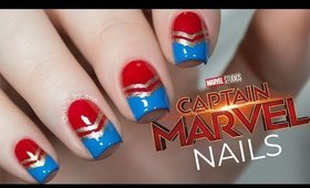 Captain Marvel Nails | NailsByErin