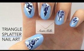 Triangle Splatter Nail Art
