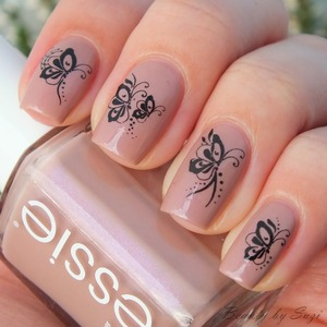 Essie, Demure Vix + water decals