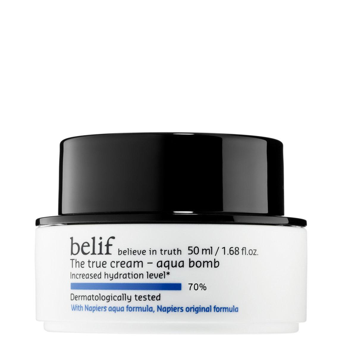 belif The True Cream Aqua Bomb product swatch.
