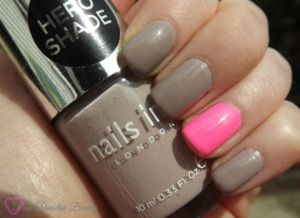 Nails Inc - Porchester Square and China Glaze - Shocking Pink