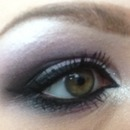 Soft lavender smokey eye close up