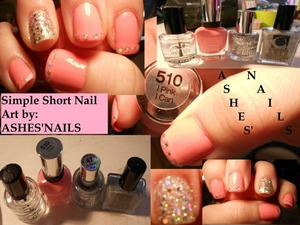 Products are as pictured, really simple for my newly shortened nails!