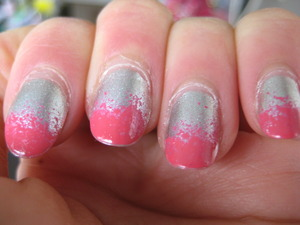 silver with bright pink