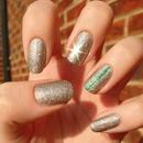 Essie Beyond Cozy with an Emerald stripe