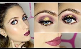 Cranberry and Gold Halo Eyes ft. BH Cosmetics Carli Bybel Palette GRWM | Makeup Tutorial