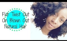How To: Flat Twist Out on Natural, Blown Out Hair