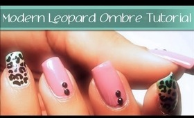 Modern Animal Print Ombre Nail Art Tutorial