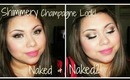 Shimmery Champagne Look using Naked & Naked2 palet