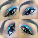 Turquoise And Gold Eye