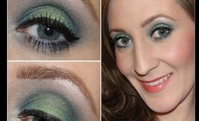 Ocean Inspired Eyes (Blue & Green) using Palladio Beauty Products