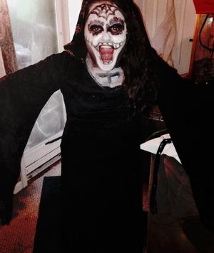 Sugar Skull Day Of the Dead Make up By Christy Farabaugh