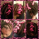laced cornrows