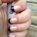 dark purple French tips