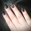 dark brown nails