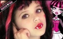 Draculara Monster High Doll Costume Makeup Tutorial for Halloween