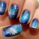 Cute galaxy nails!