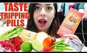 Taste Tripping Pills Test! (Raw Onion, Serrano Pepper, Lime)