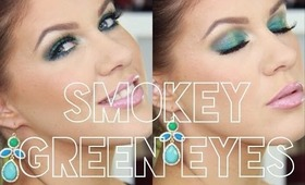 ♡ Wearable Turquoise Green Makeup ♡ Perfect For Fall!! ♡