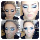 black and white smoky eye