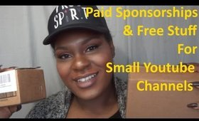 How to Get Paid Sponsorships & Free Stuff Without A lot of Subscribers!!! | Jessibaby901