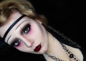 1920's Flapper Vampire Halloween Look  http://www.bowsandcurtseys.com/2011/10/1920s-flapper-vampire-halloween-look.html