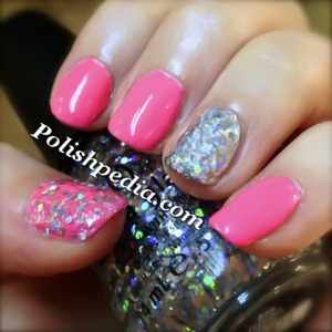 Are you already wearing hot pink and glitter on your nails.  We are over at Polishpedia.com!  See what products were used @ http://polishpedia.com/techno-anime-glitter-nails.html