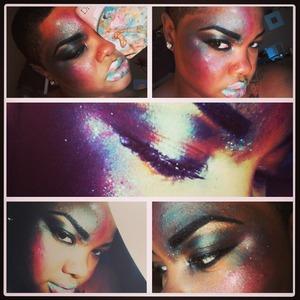 Starry creative editorial makeup @whoizshe