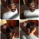 hairstyle with long hair (ombre)