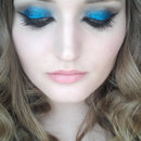 Smokey + Blue Glitter cat eye