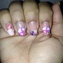 valentine day nails.