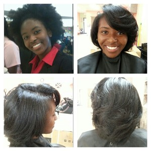 Flat iron on natural hair (no relaxer) www.stylesear.com/tatianawilson