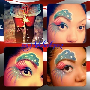 Created a 4th of July look :)