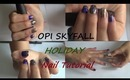 HOLIDAY NAIL TUTORIAL and HOW-TO: Business card french nails - Magnetic Nail Polish, OPI Skyfall