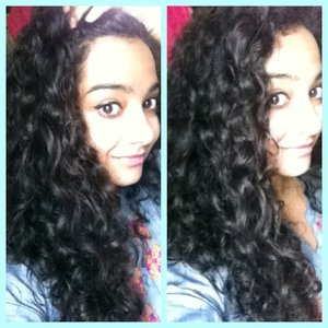 My all natural curls. No products used. I absolutely love them <3