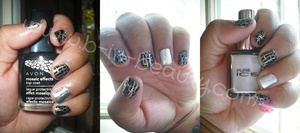 Avon Mosaic Effects Top Coat and Pure Ice - Silver Mercedes