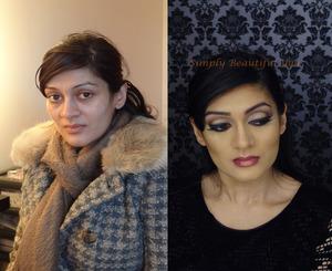 A glamorous bollywood look